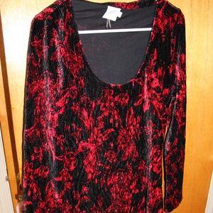 HD in Paris Anthropologie red velvet dress size M